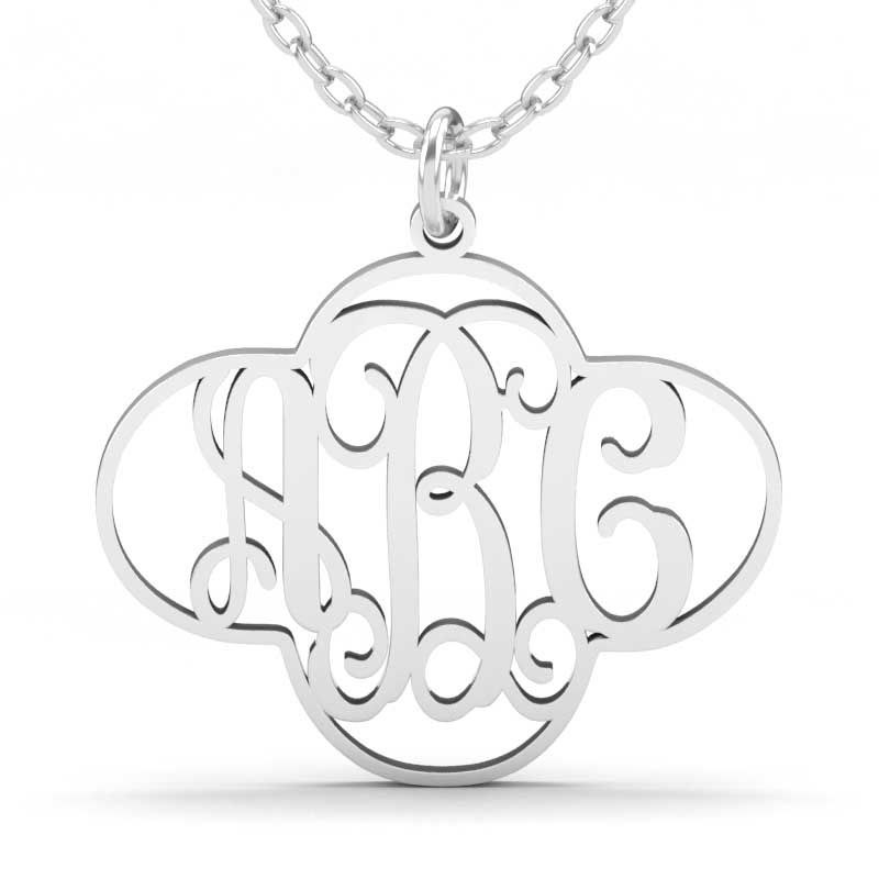 6f1f530bf Cut Out Clover Monogram Necklace Sterling Silver - Jeulia Jewelry