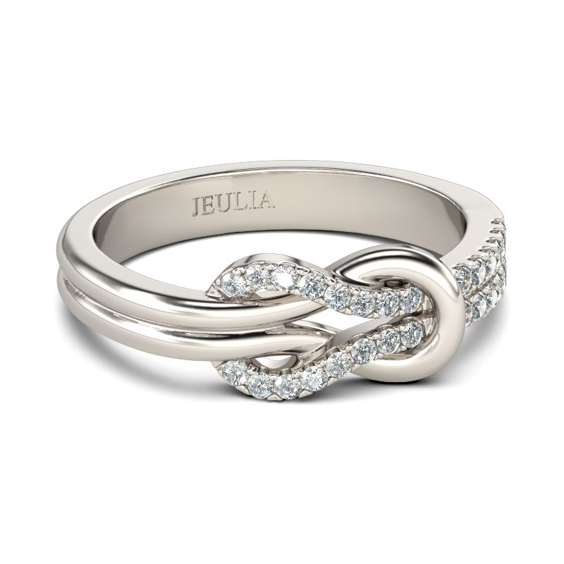 94e47d371 Knot Design Sterling Silver Ring - Jeulia Jewelry
