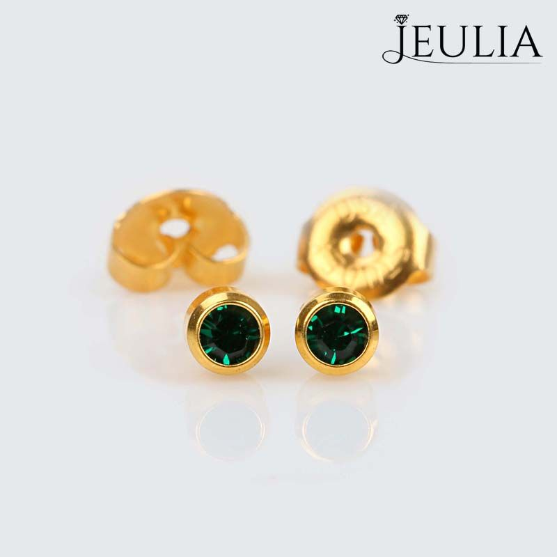 stud eight gold matte earrings ct il pieces collection simple of finish jewellery post fullxfull p fine