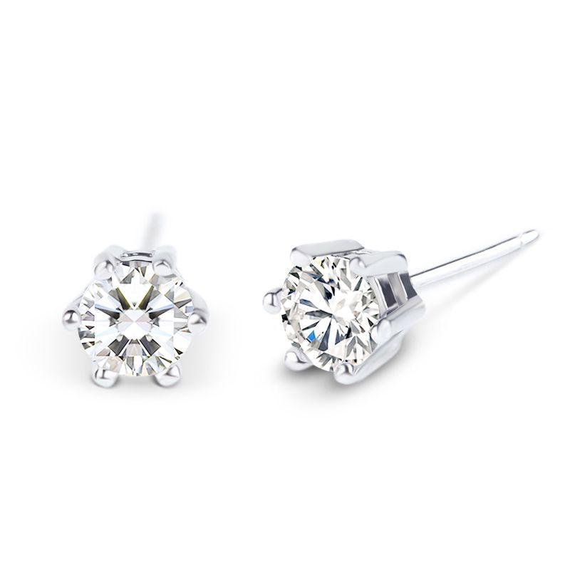 Jeulia Simple Crown Sterling Silver Stud Earrings Jeulia Jewelry