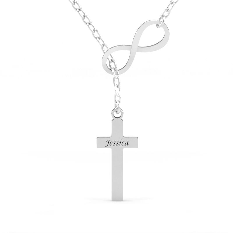 metallic peretti lyst tiffany small co infinity elsa jewelry pendant in sterling necklace silver cross