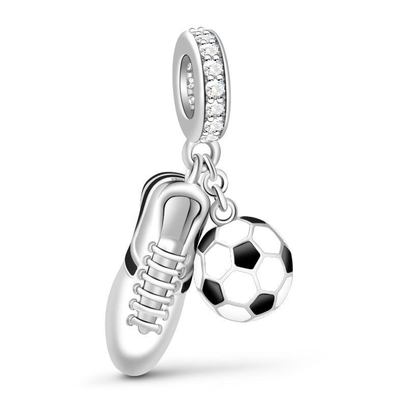 c3a4edfeb Soccer Charm Sterling Silver - Jeulia Jewelry