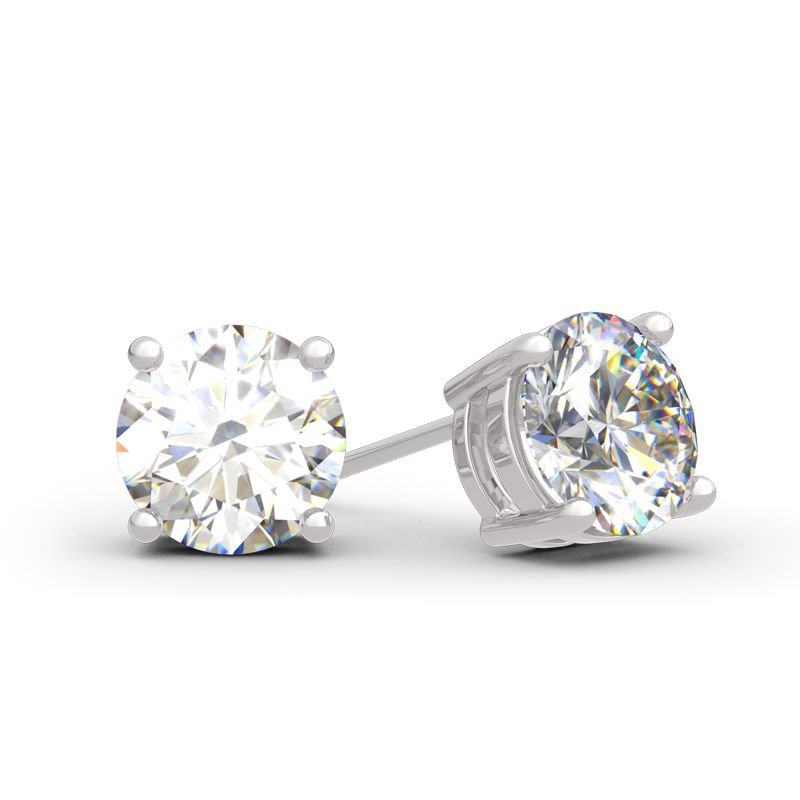a27689152 Classic Round Cut Sterling Silver Stud Earrings - Jeulia Jewelry