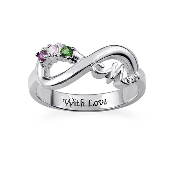 stone free shipping mothers infinity ring gold