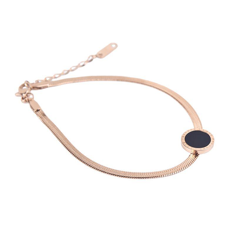 Simple Rose Gold Tone Titanium Steel Bracelet Jeulia Jewelry