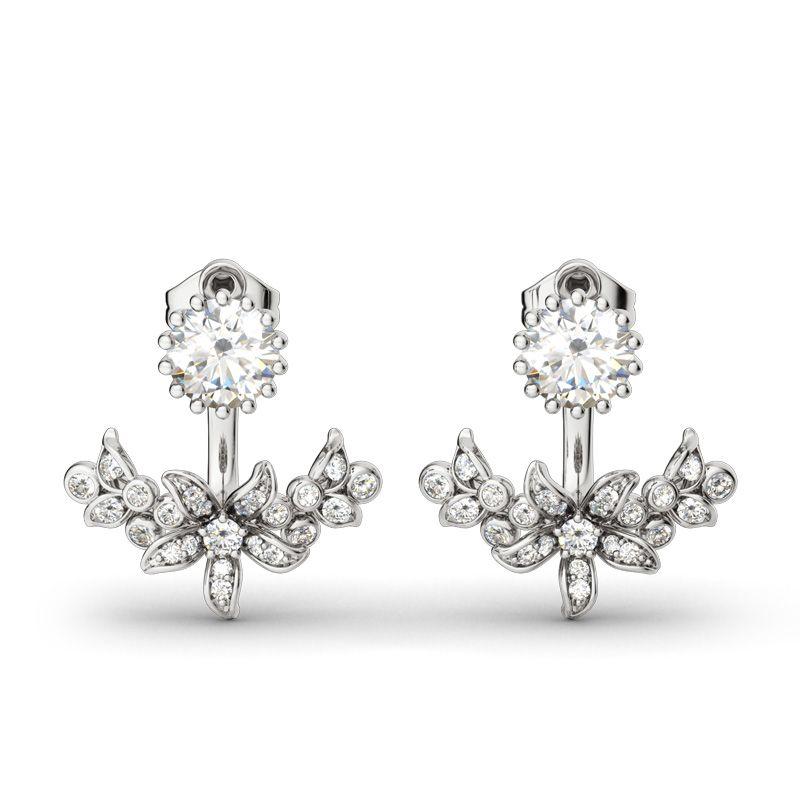 Sterling Silver Diamond Earring Jacket