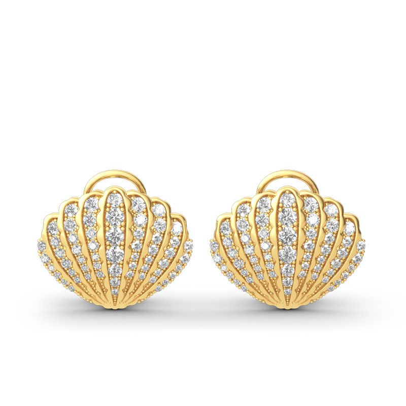 39f4628a8 Sea Shell Sterling Silver Stud Earrings - Jeulia Jewelry