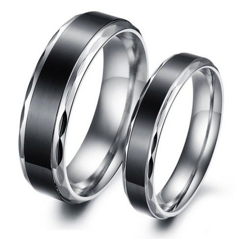 ccb3c84d1b Cool Black Titanium Steel Couple Rings - Jeulia Jewelry