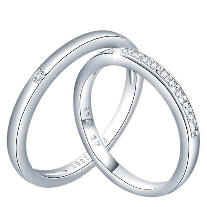 2b0e388b46 Sterling Silver Couple Rings - Jeulia Jewelry