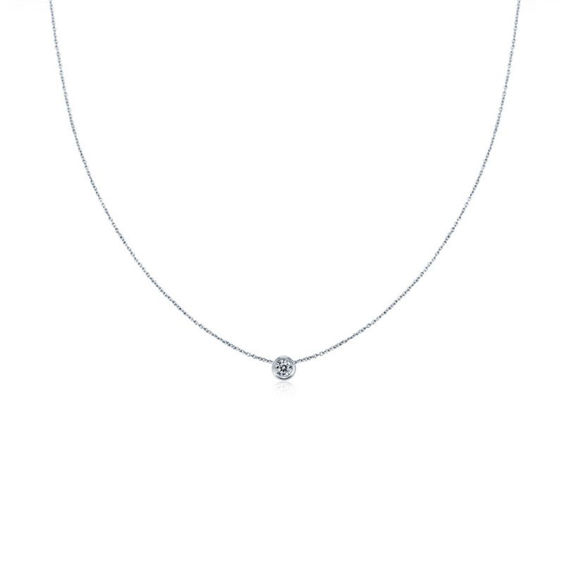 aa8c624a5d6 Simple Round Cut Stone Pendant Sterling Silver Necklace - Jeulia Jewelry