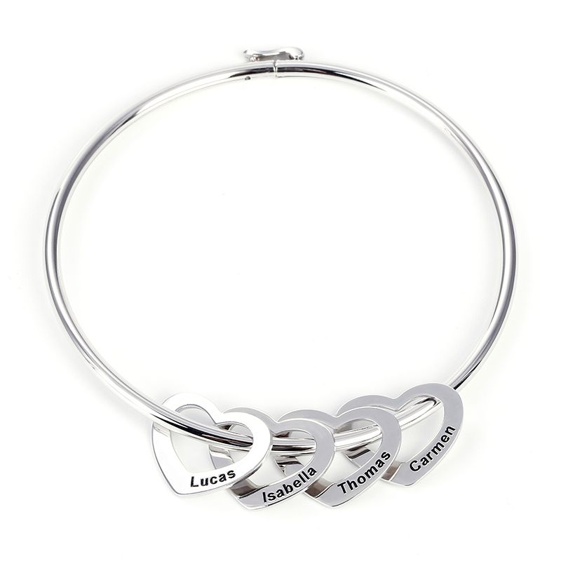 Fine Bracelets 925 Sterling W/ Gold Leaf Bangle Making Things Convenient For Customers