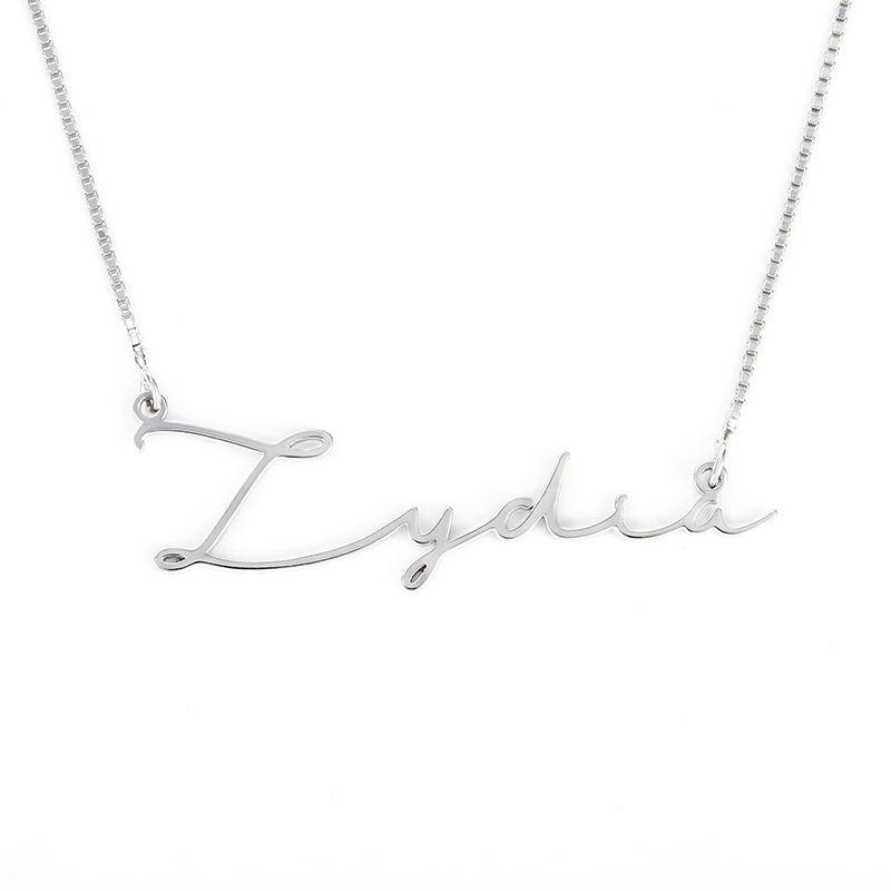 Jeulia Silver Signature Style Name Necklace