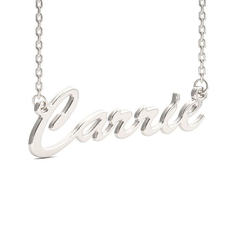 e5749a2af957f Carrie Style Sterling Silver Name Necklace