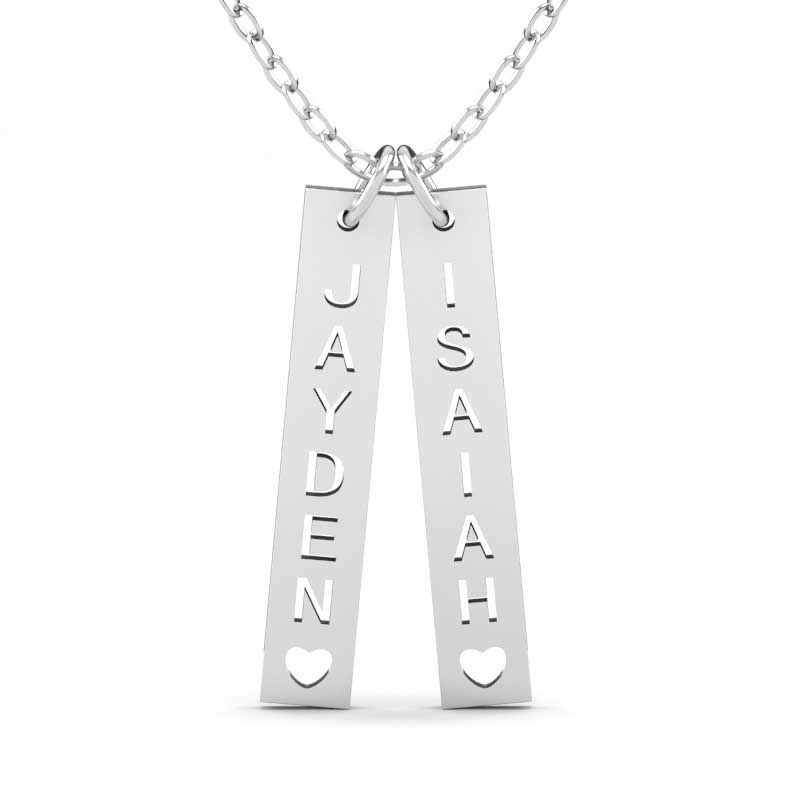 3f155793a4aadb Vertical Engraved Name Bar Necklace Sterling Silver - Jeulia Jewelry