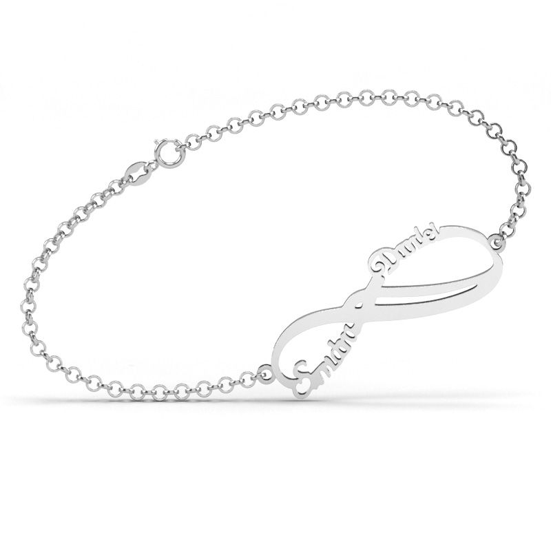 Name Infinity Bracelet Sterling Silver