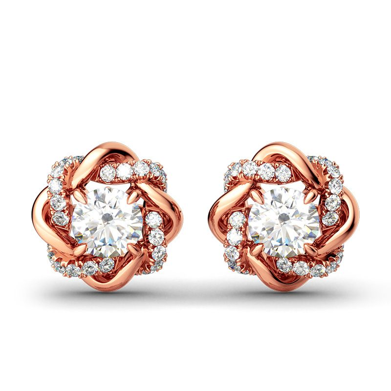 5a2137ac86c4c Knot of Love Stud Earrings