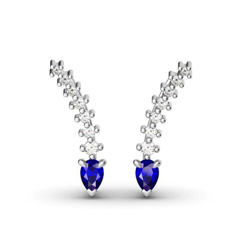 b3f1e7a61 Royal Blue Climber Earrings - Jeulia Jewelry