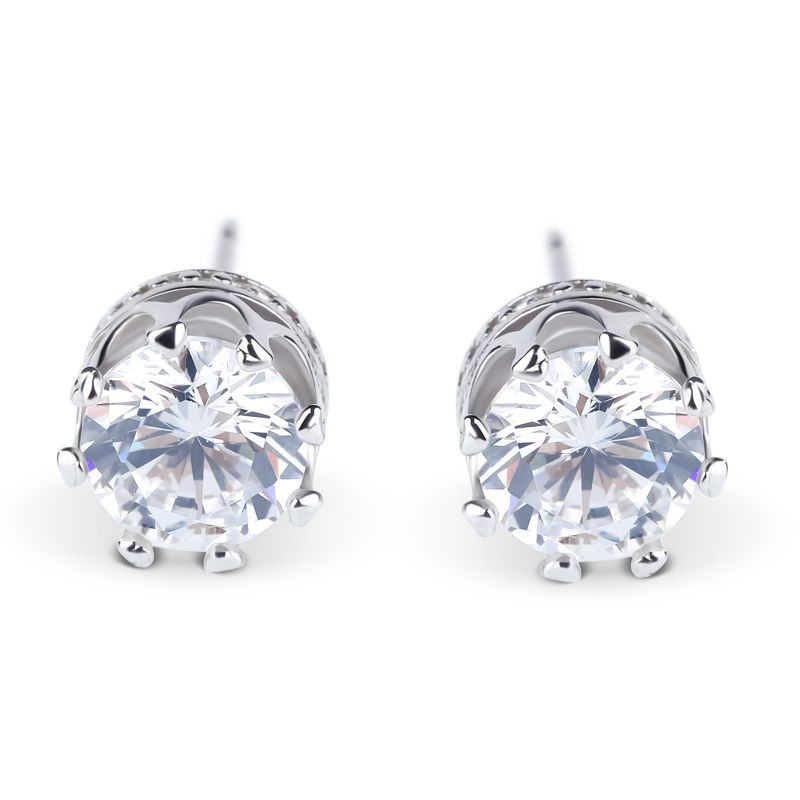 Clic Crown Sterling Silver Stud Earrings