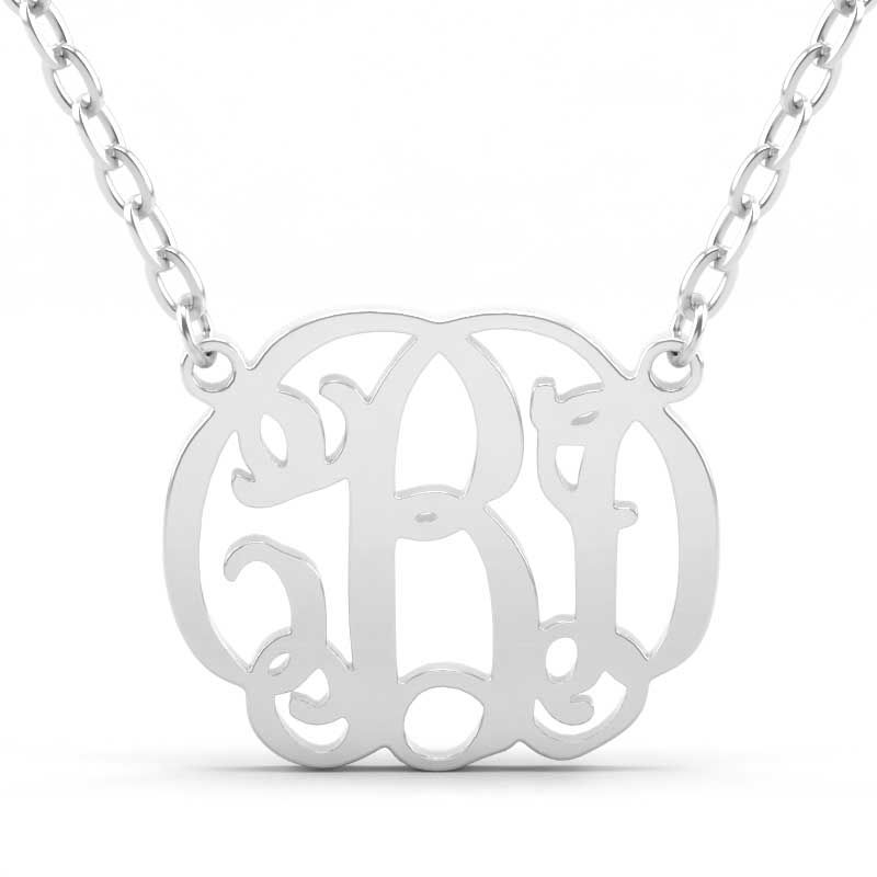 a4cda7bfc Vintage Monogram Necklace Sterling Silver - Jeulia Jewelry