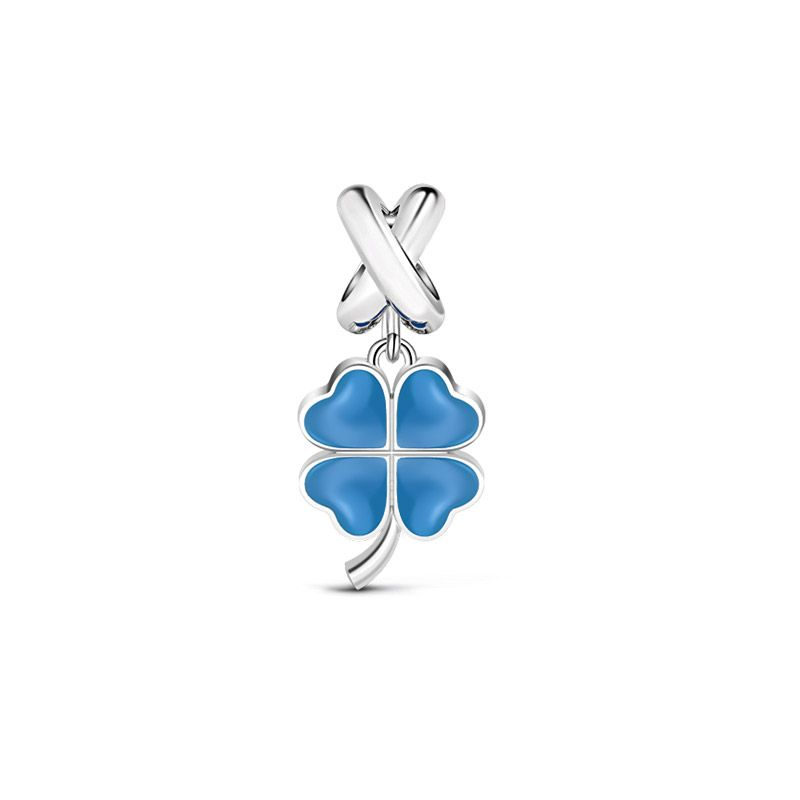 Four leaf clover pendant sterling silver jeulia jewelry four leaf clover pendant sterling silver mozeypictures Image collections