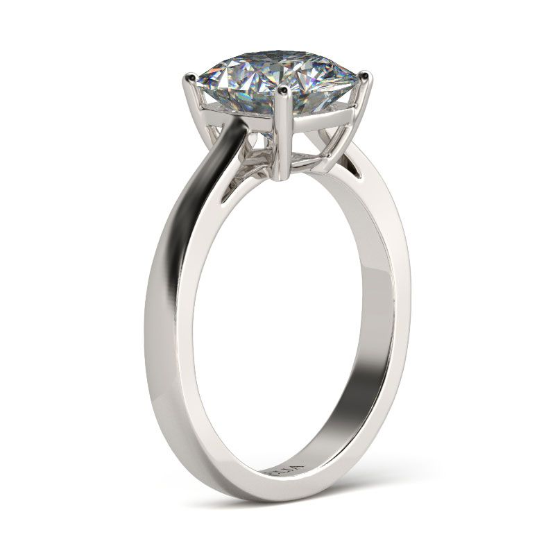 ... Classic Solitaire Cushion Cut Sterling Silver Engagement Ring ...