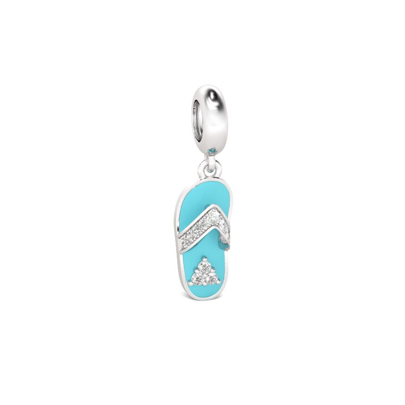 Blue slipper pendant sterling silver jeulia jewelry blue slipper pendant sterling silver aloadofball Image collections