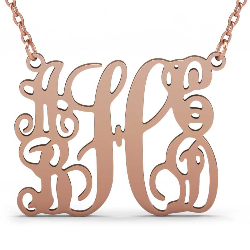 132170967 ... Customized 5 Initials Family Monogram Necklace Sterling Silver ...
