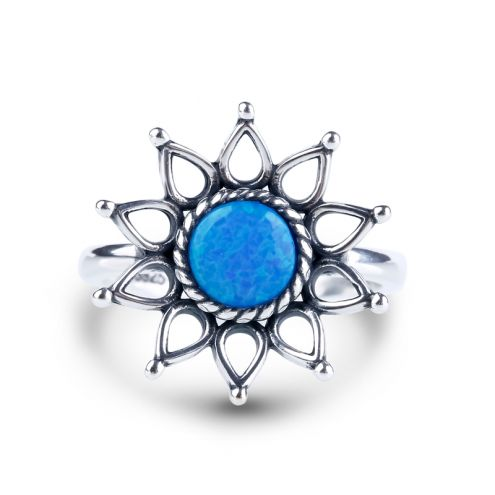 Sunflower Opal Ring