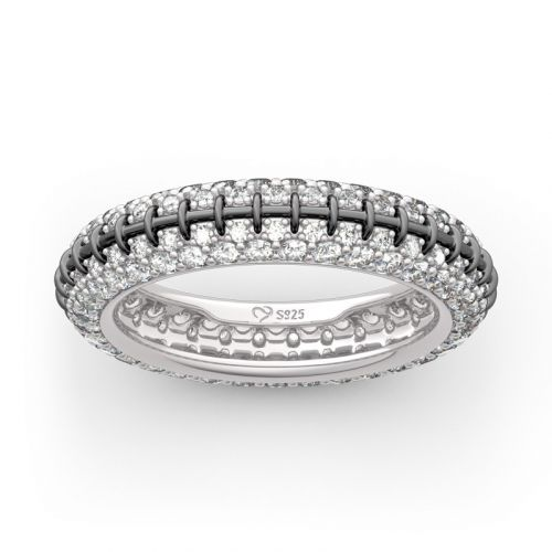 """Jack Skull"" Inspired Sterling Silver Eternity Band"
