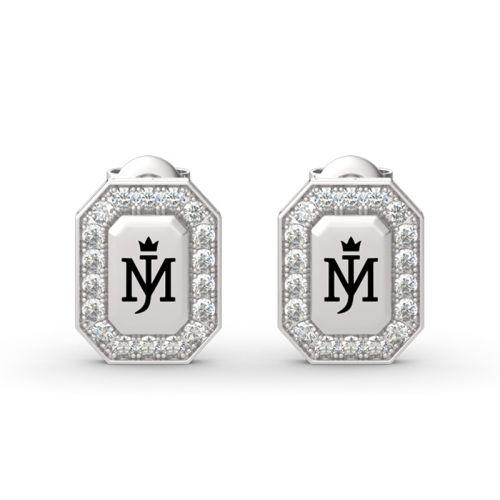 Michael Jackson Commemorative Round Cut Sterling Silver Earrings