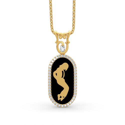 Michael Jackson Commemorative Sterling Silver Necklace