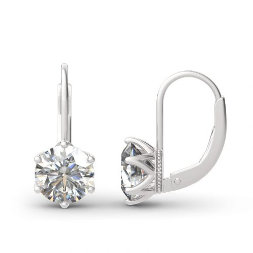 Classic Round Cut Sterling Silver Earrings