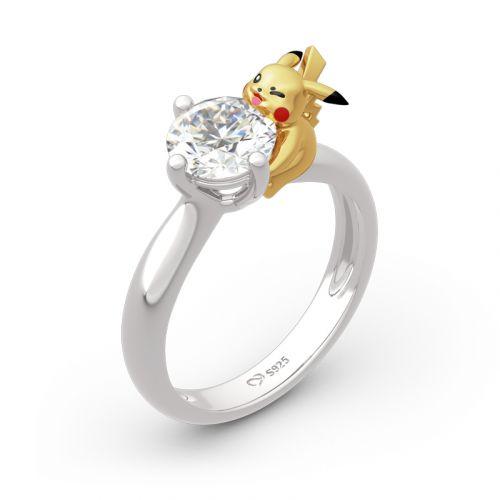 Jeulia Cute Round Cut Sterling Silver Ring