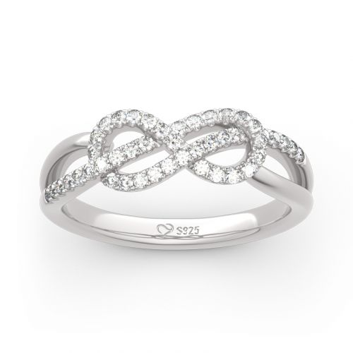 Infinity Knot Design Sterling Silver Band