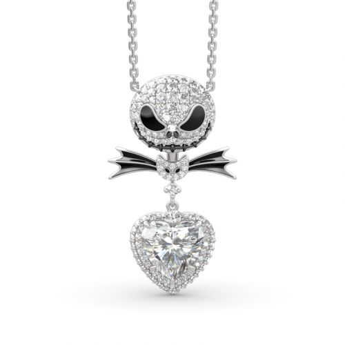 Jeulia The Nightmare Before Christmas Jack Skellington Sterling Silver Necklace