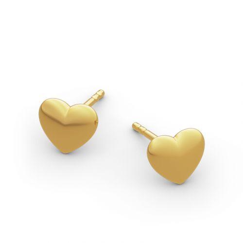 """Jeulia """"Always in My Heart"""" Sterling Silver Earrings"""