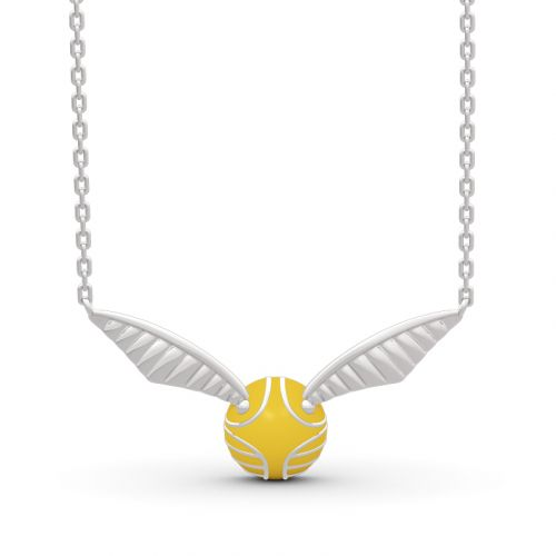 """Jeulia """"Catch It if You Can"""" Sterling Silver Necklace"""