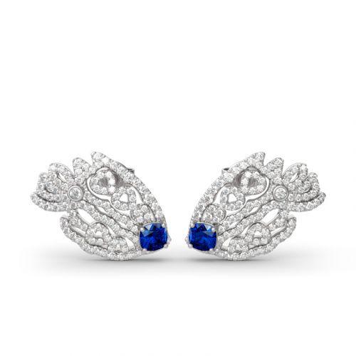 Luxury Goldfish Sterling Silver Stud Earrings
