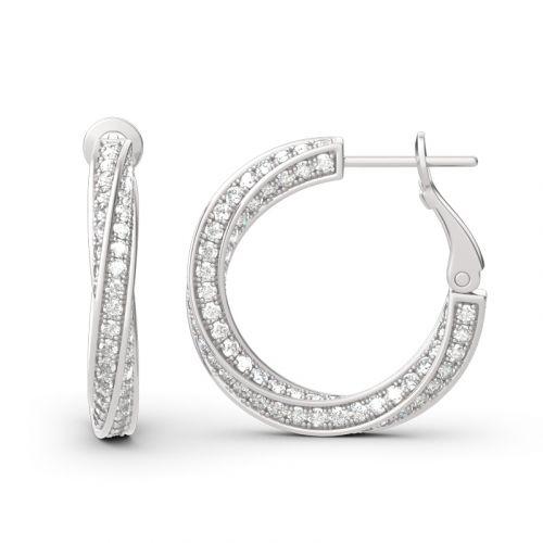 Twist Sterling Silver Hoop Earrings
