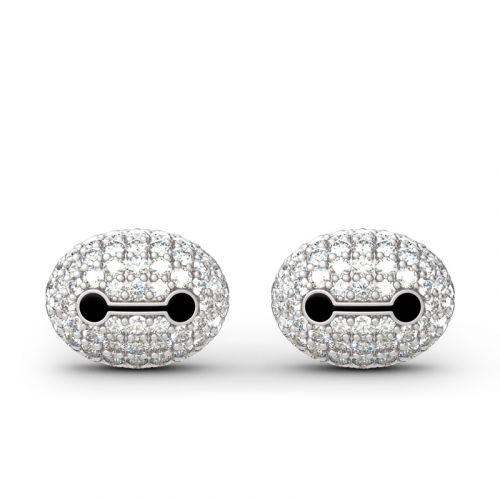 Superhero Baymax Inspired Sterling Silver Stud Earrings