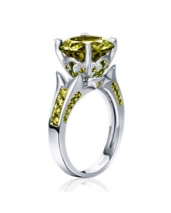 Jeulia Vintage Round Cut Sterling Sliver Ring