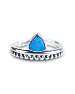 Petite Triangle Opal Ring