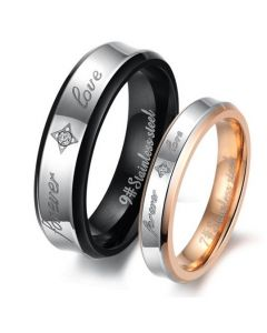 Two Tone Stainless Steel Band Set