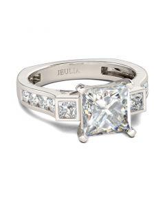Europe Shank Princess Cut Sterling Silver Ring