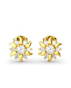 Sunflower Sterling Silver Stud Earrings
