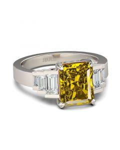 Art Deco Radiant Cut Sterling Sliver Ring
