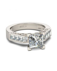 Princess Cut Sterling Silver Ring