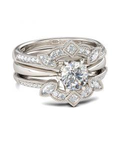 Vintage Sterling Silver Enhancer Ring Set