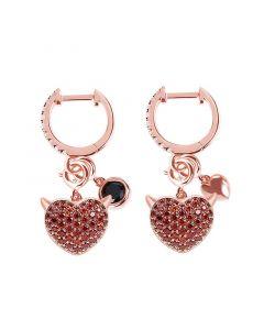 Jeulia Devil with Kind Heart Earrings
