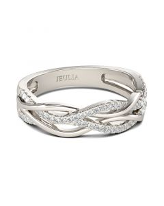 Intertwined Sterling Silver Women's Band